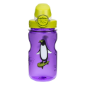 Láhev Nalgene Clear Kids OTF purple penguin